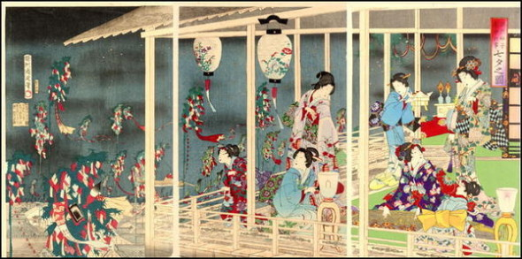 Chikanobu_Yoshu-Events_in_Edo_Throughout_the_Year-Tanabata_Festival-00039752-061018-F06