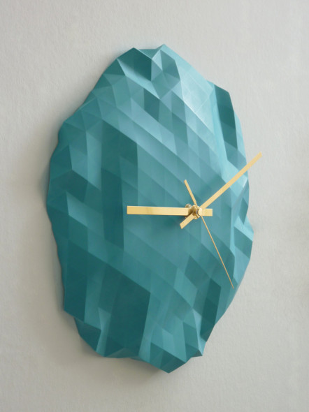 Faceted_Clock_-_Turquoise_4