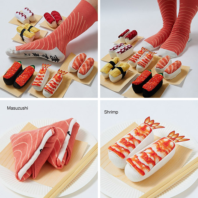 Sushi-Socks-look-like-delicious-sushi-when-rolled