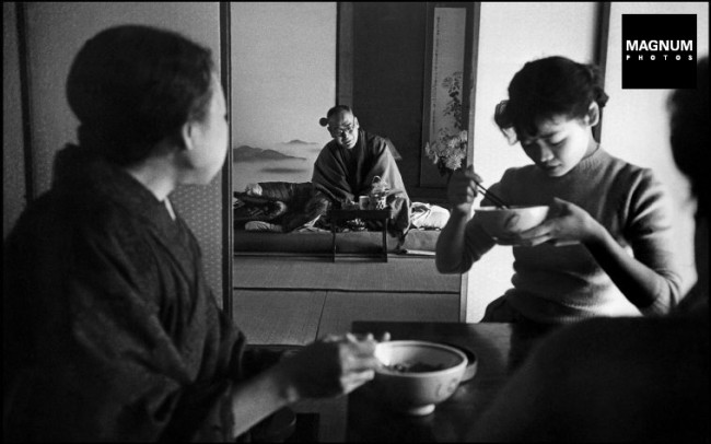 JAPAN. Tokyo. 20 year old Michiko JINUMA, a fashion student, with her family. 1951.