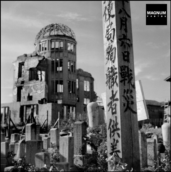 JAPAN. Town of Hiroshima. Memorial for the victims of the atomic explosion. In the background: a former exhibition hall. 1951.