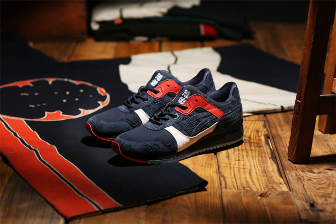 "KICKS LAB. × ASICS Tiger GEL-LYTE Ⅲ ""HIKESHI"" for KICKS LAB."