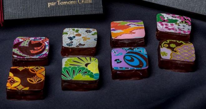 アートの世界だこれ!吉祥文様が描かれ白味噌、日本酒、八つ橋などの味わいの美しきチョコレート