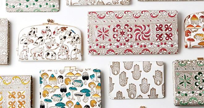 素敵デザインが溢れてる!伝統工芸・文庫革を使用した「水金の文庫革」は豊かな彩色も魅力
