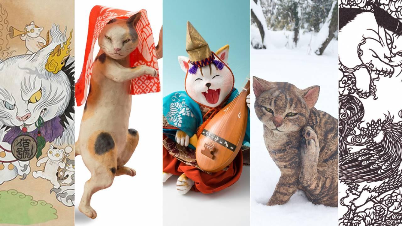 写真撮影OK!猫アート約1000体が百段階段に大集結「福ねこ展 at 百段階段」