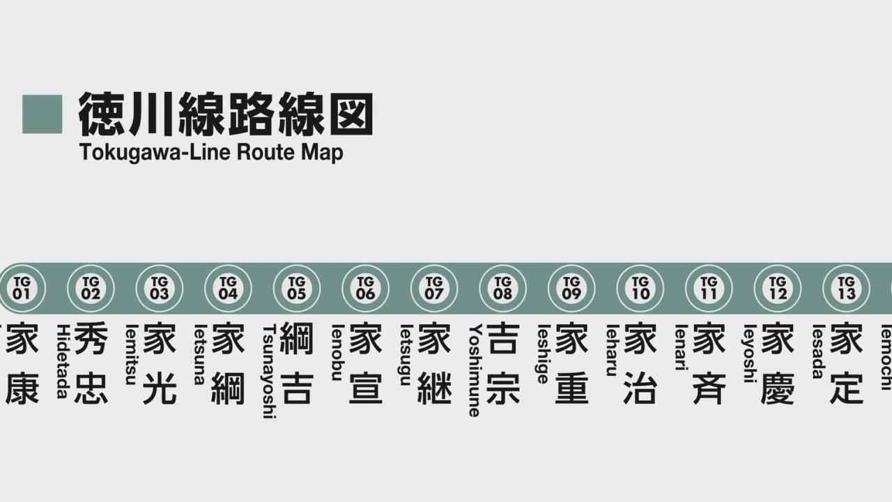 これは暗記が捗るwww 徳川15代将軍の新たな覚え方「徳川線路線図」が考案される!
