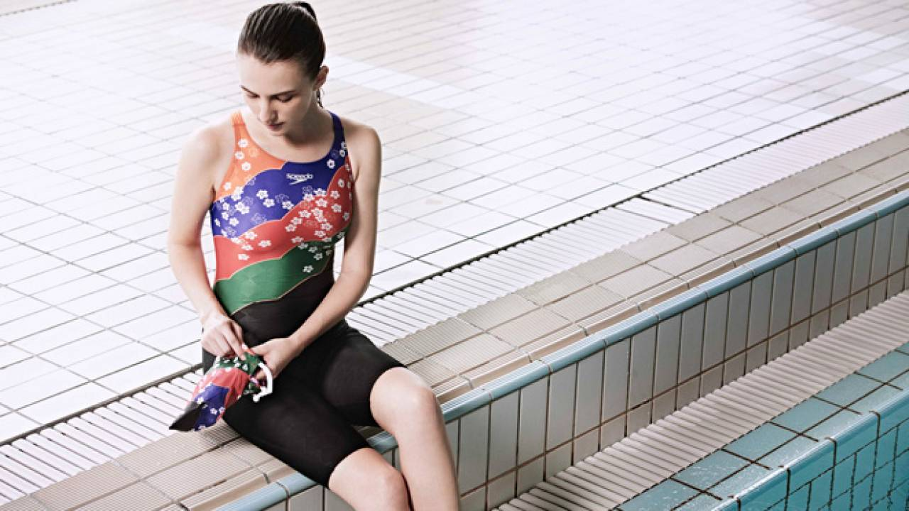 実にエレガント!着物のような日本の伝統文様モチーフの和風水着「Symbolizing Japan」