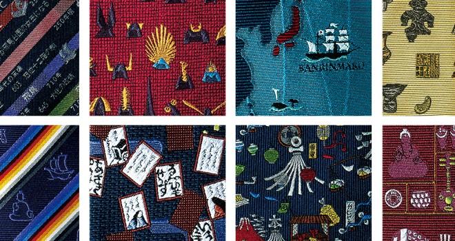 よく見ると日本史!日本の歴史をネクタイの柄に取り入れた日本の「歴史浪漫」がステキ