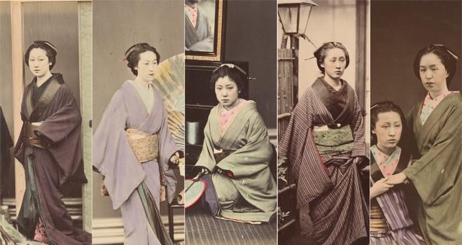 雰囲気ステキです!着物の着方にも注目、明治初期の着物女性たちの古写真いろいろ
