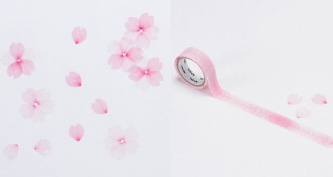 1枚1枚絵柄も違う!使い道色々、ステキすぎる「桜の花びらマスキングテープ」