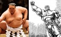 ウオォこれは強そうだ!横綱・稀勢の里に「北斗の拳」ラオウの化粧まわしが贈られることに