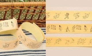 木目が素敵な鳥獣戯画のマスキングテープ!薄くスライスした木を使用