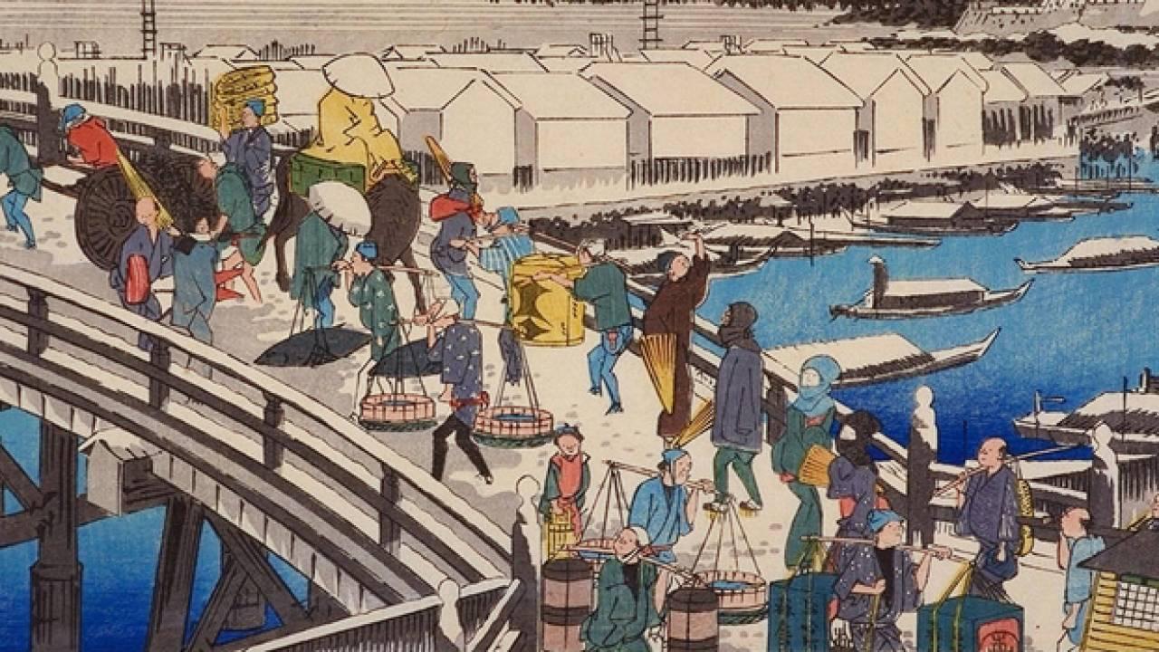 まさに移動式スーパー!江戸時代の移動販売「棒手振り」には社会福祉の役割もあった