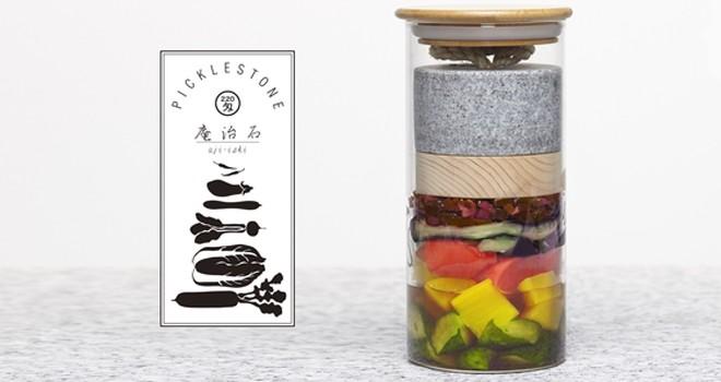 実にスタイリッシュ!新スタイルで素敵な漬物瓶「Picklestone」がクラウドファンディングで超人気