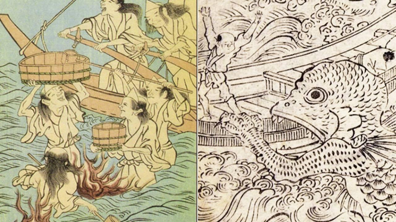 海坊主、船幽霊…向こうの世界に引き込もうとする、怨念たっぷりな海の妖怪たち