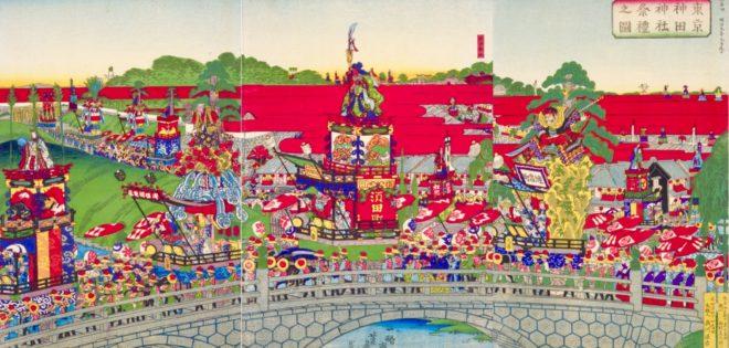 一鵬斎芳藤「東京神田神社祭礼之図」国会図書館蔵