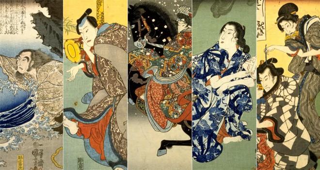 iPhone、iPadで無料配信!歌川派の人気浮世絵師3人による共作「小倉擬百人一首」