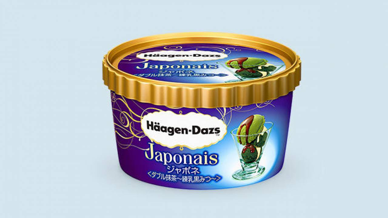 ジャポネに新作!ハーゲンダッツから和素材満喫の「ジャポネ ダブル抹茶 練乳黒みつ」登場