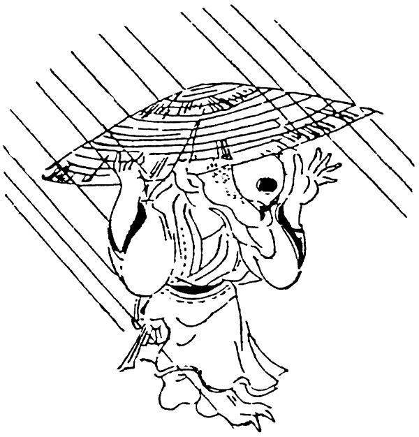 雨降り小僧(歌川豊国画 御存之化物より)