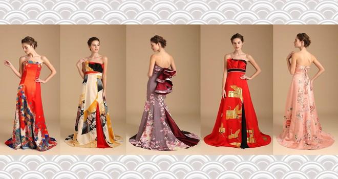 和の趣きにうっとり…アンティーク振袖を使用した麗しの着物ドレス「祥縁(SHOEN)」がステキ