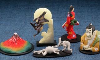 見返り美人や鳥獣戯画も!日本の名画がモチーフのミニフィギュア「日本切手立体図録」発売