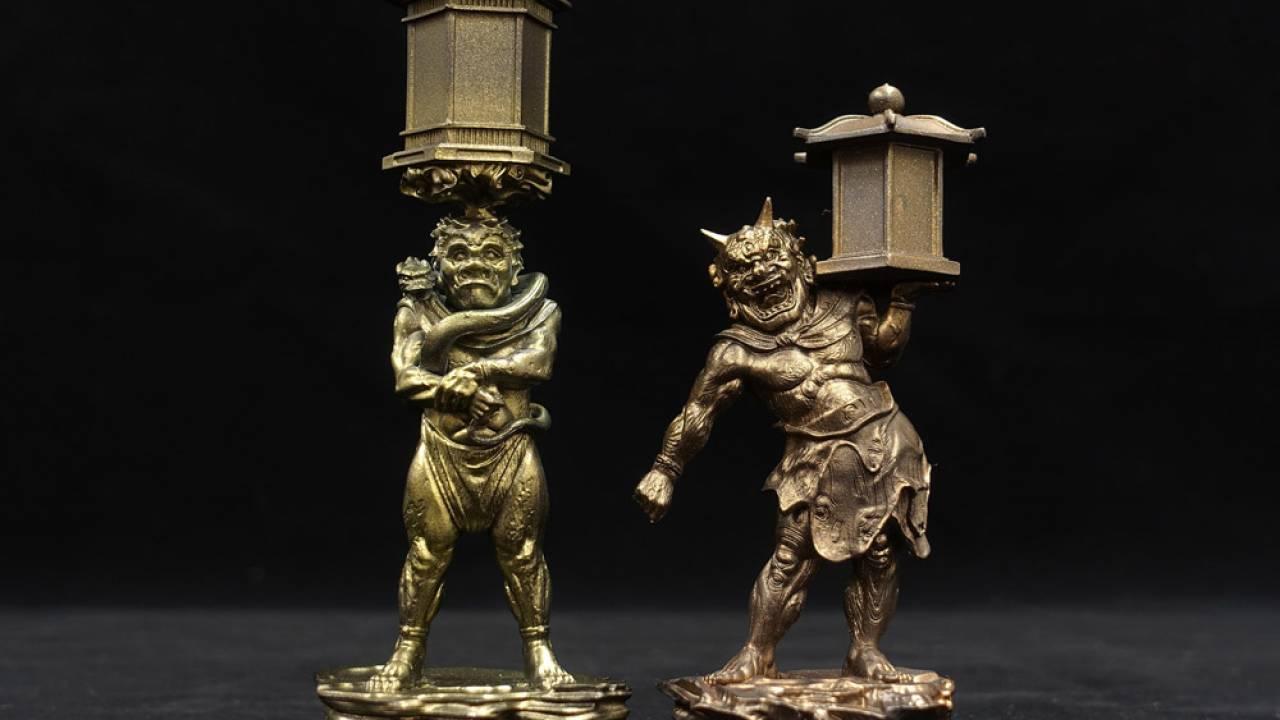 海洋堂が鬼像を緻密に再現!謎多き仏師・康弁の国宝「天燈鬼・龍燈鬼立像」がフィギュアに