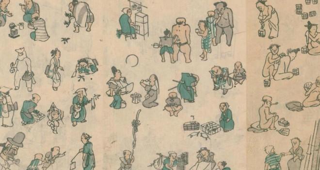 可愛すぎか!豆粒ほどの人々を所狭しと描いた江戸時代のキャワワ日本画「文鳳麁画」