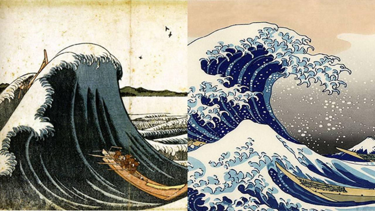 最初から天才なんていない!葛飾北斎の「波」が完成されていく経過を追ってみました