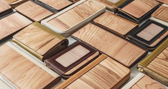 樹齢300年超の重み!伊勢神宮の神域内の御山杉を使用した財布やカードケース「常若小物」