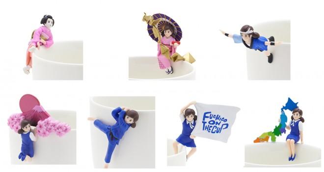フチ子JAPANキタ!!日本文化をテーマにしたフチ子がリニューアル「コップのフチ子 JAPAN 彩」
