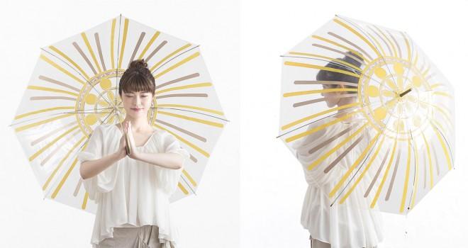 傘を差せば後光差す!なりきり仏像スタイル「光背アンブレラ」がおもろ可愛いよ♪