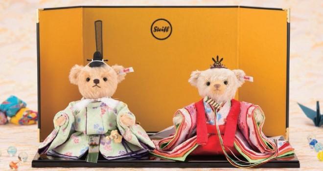 これは大アリ!モフモフのテディベアがお内裏様とお雛様に「雛人形テディベア」