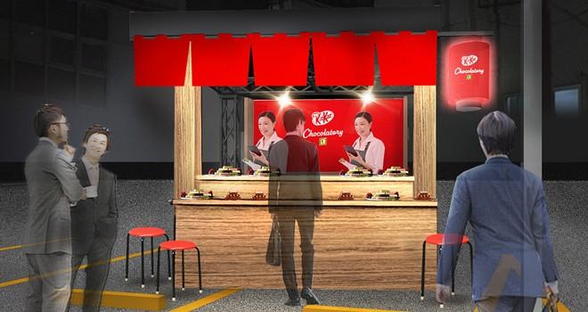 キットカットが屋台だと!?寿司折り風の手土産が買える「キットカット ショコラトリー 屋台」オープン