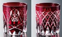 ライトセーバーな深紅が美しい!ダース・ベイダーの江戸切子グラス登場