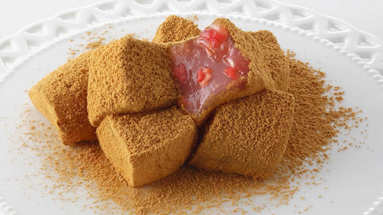 ぷるぷるもちもち食感にイチゴが香る♪和菓子屋・口福堂から季節限定「いちご入りわらび餅」登場