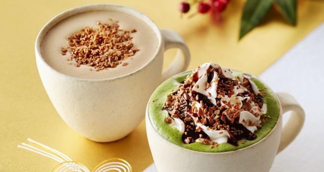 鳥獣戯画てぬぐいも登場!タリーズコーヒーが年末年始限定で「クラッシュキャラメル抹茶ラテ」発売