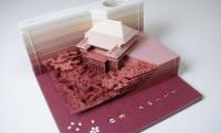 この仕掛けはスゴい!メモを使っていくと徐々に清水寺が出現「OMOSHIROI BLOCK」