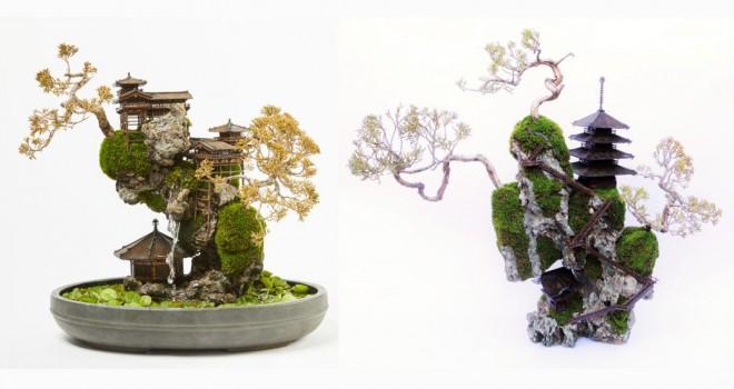 超神秘空間!盆栽でそそり立つ絶壁の景観を表現「断崖盆栽」が新作を3作公開!