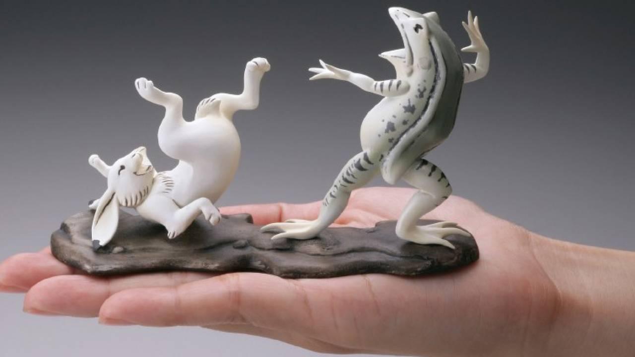 物欲センサー発動!鳥獣戯画が躍動感そのままに海洋堂による手のひらサイズのフィギュアに!
