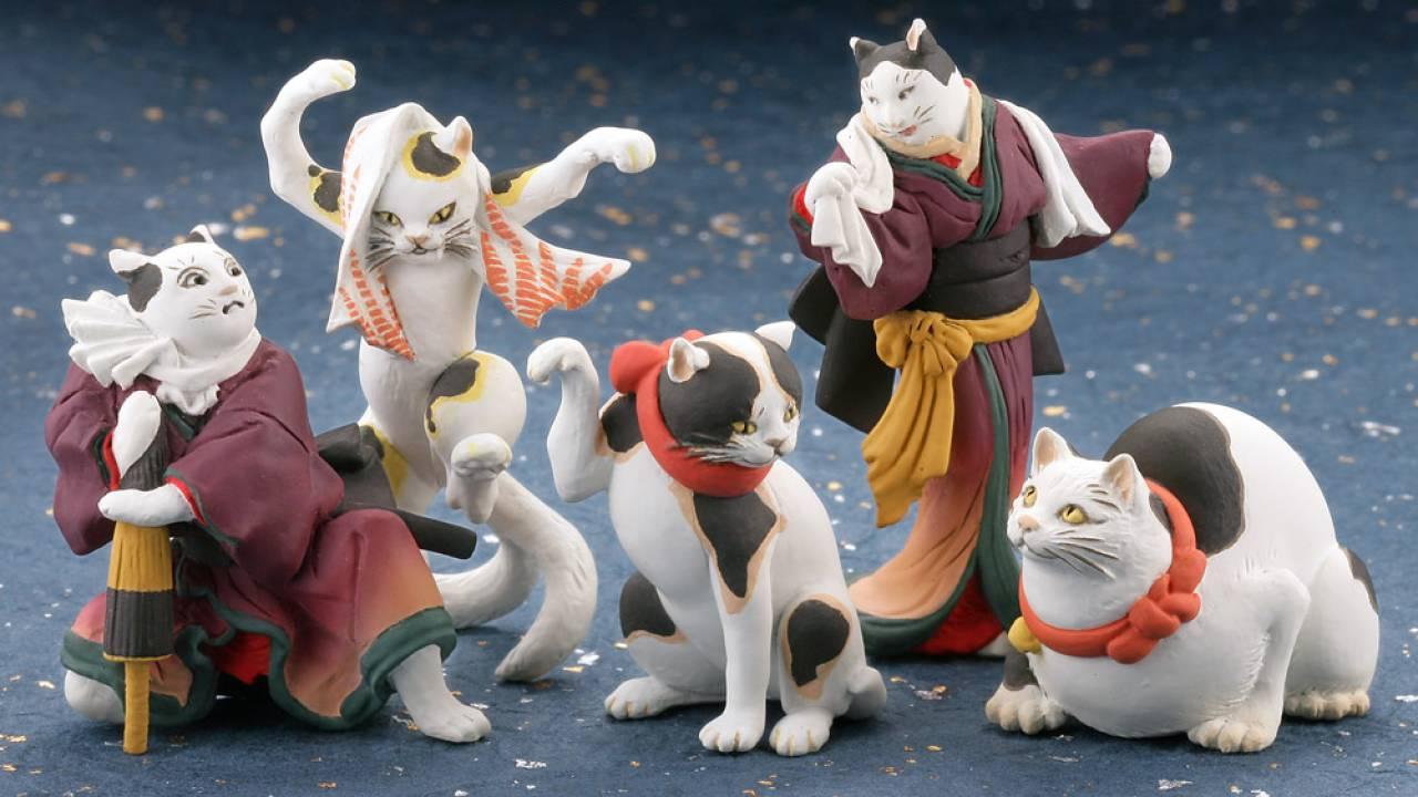 猫又もいるし最高じゃないか!絵師・歌川国芳の可愛すぎる猫作品がミニフィギュアになった
