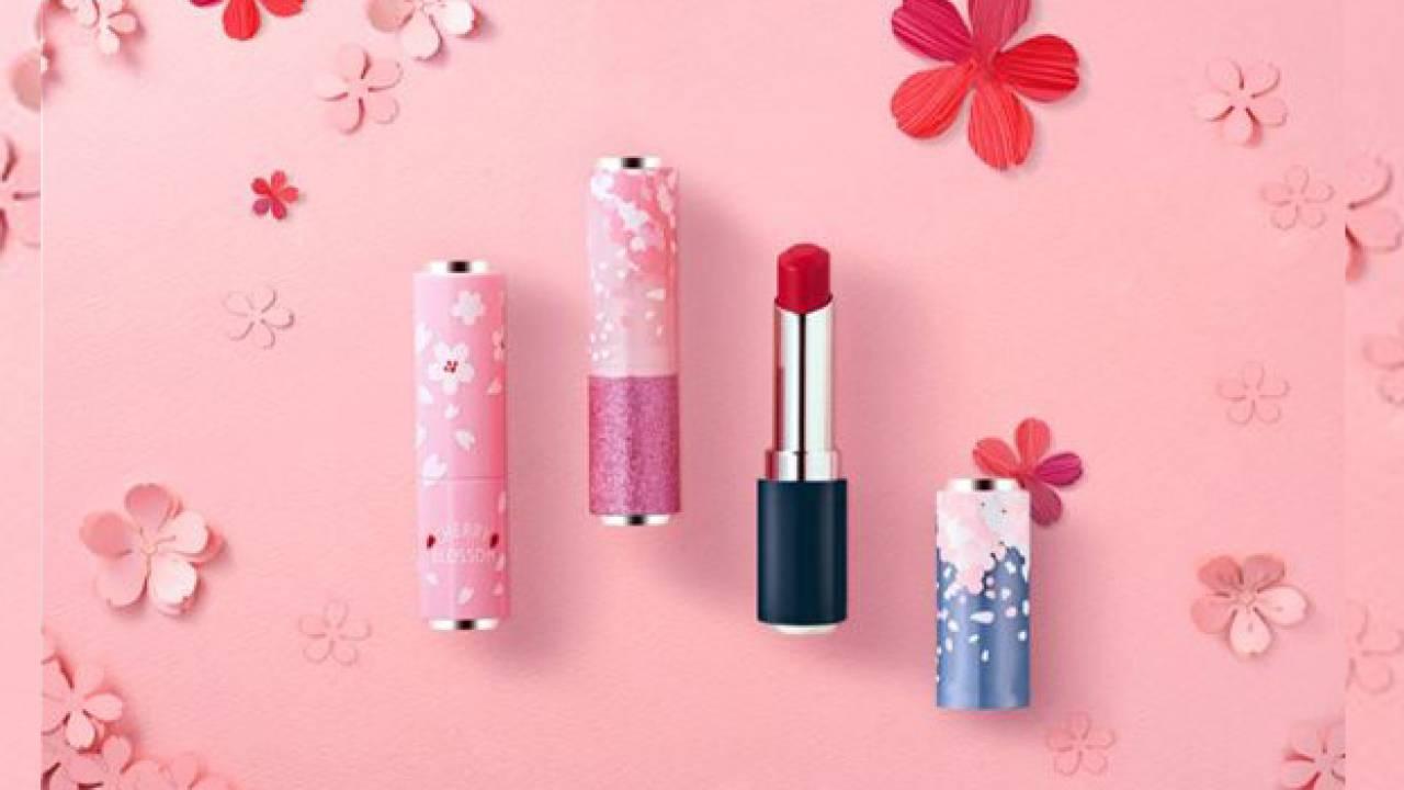 桜いっぱいコスメアイテム!自分好みにカスタマイズできる桜モチーフのリップケース「チェリーブロッサム」