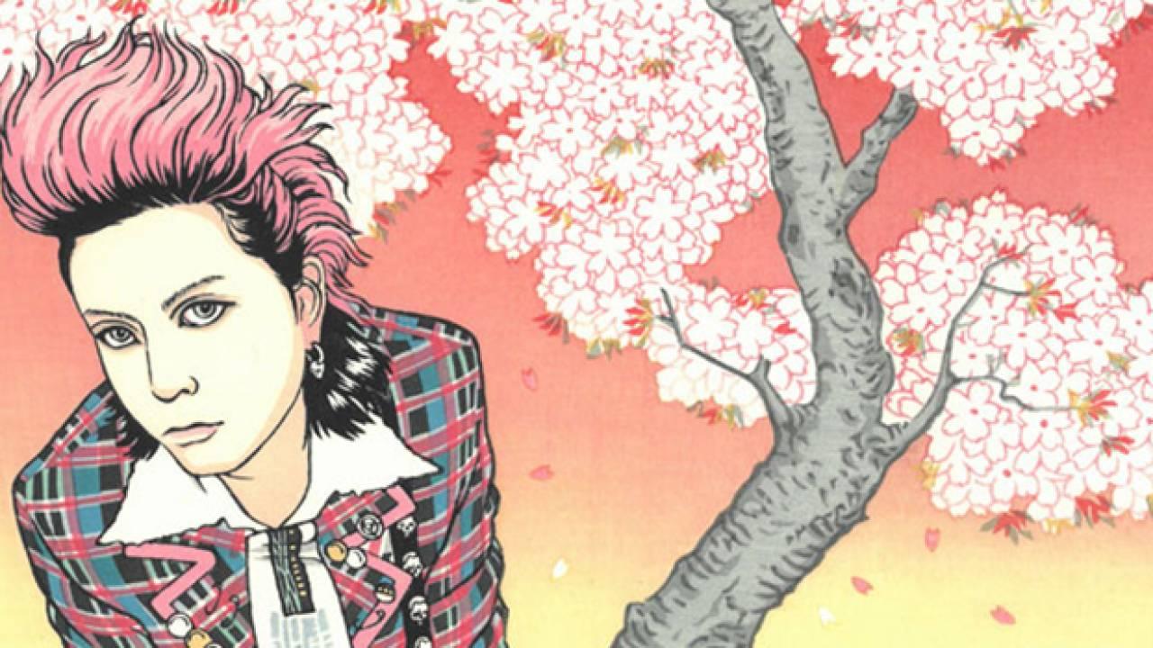 200枚限定!X JAPANのhideが浮世絵木版画で蘇る「hide 桜の景」