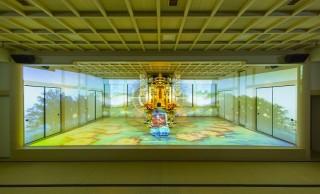 お寺の本堂で「地獄と極楽浄土」をテーマにしたプロジェクションマッピングの未来感よ