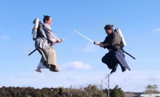 未来感しかない!サムライがジェットパック背負って空中戦「ジェット侍」