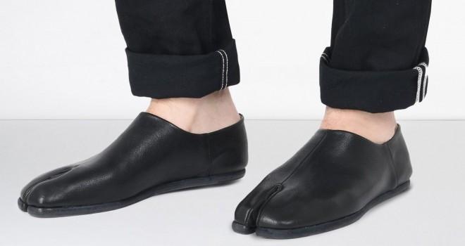 お値段8万超!上質レザーを使用したシンプル&モードな足袋型スリッポン登場