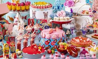 着物柄モチーフのケーキなどレトロ可愛いスイーツが並ぶデザートブッフェ「ジャポニズム~花よりマカロン」