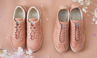 ホンモノの桜を使用!淡いピンクが美しいオニツカタイガーの草木染めシューズ「SAKURA ZOME」