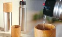 職人の木工技術とステンレスのコントラストが素敵な水筒「Mokuneji×SUS gallery Bottle」