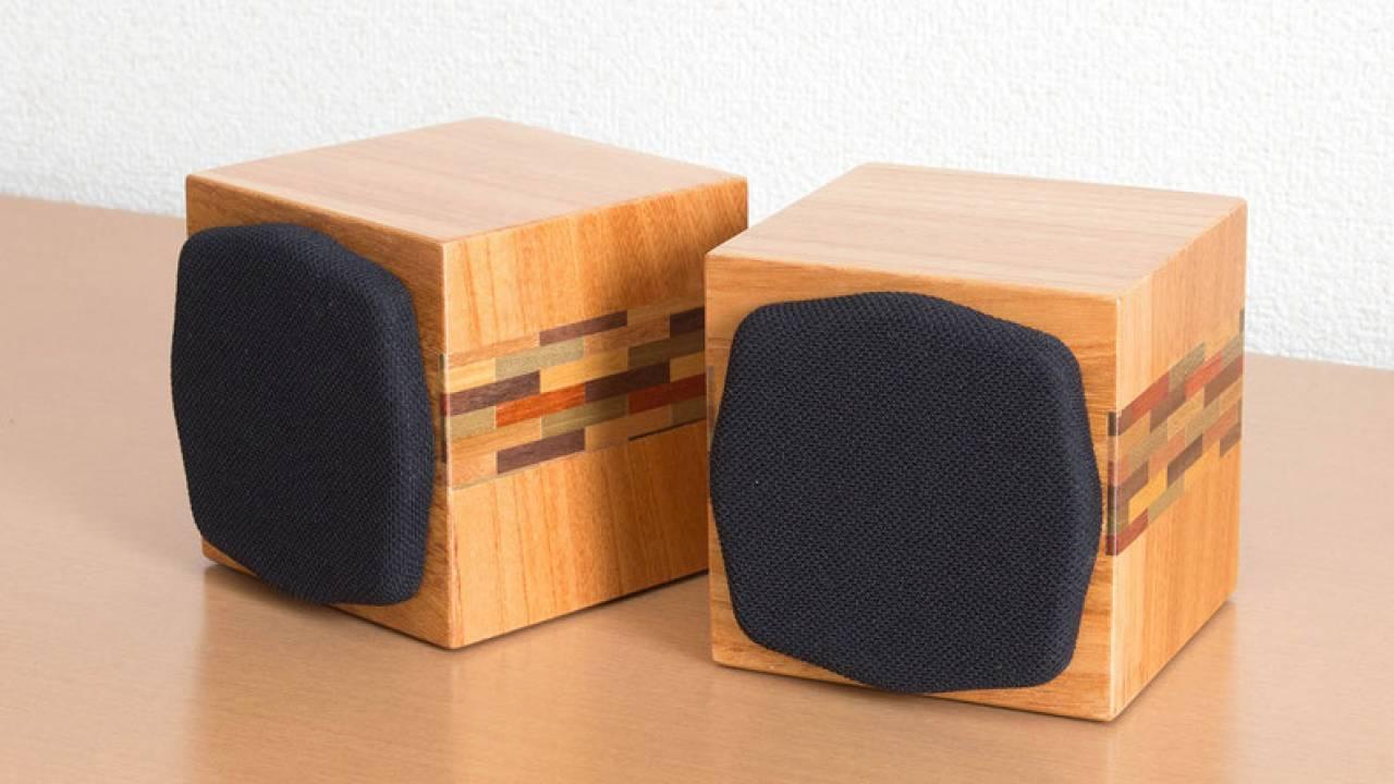 伝統工芸の箱根寄木細工をあしらった小型スピーカー「SP-H200 Limited」が数量限定で登場!