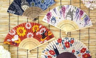 トトロやジジ、カオナシなどジブリ作品の世界が拡がる扇子4種が発売!